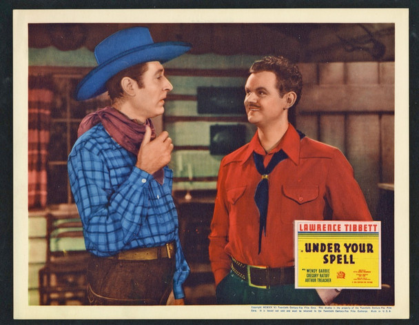 UNDER YOUR SPELL (1936) 26914 20th Century Fox Original Scene Lobby Card  (11x14)  GREGORY RATOFF and LAWRENCE TIBBETT