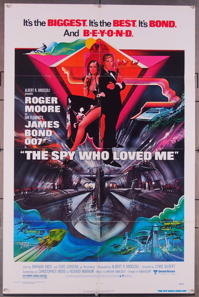 SPY WHO LOVED ME, THE (1977) 16274 United Artists Original One-Sheet Poster (27x41) Folded  Fine Plus Condition  Art by Bob Peak