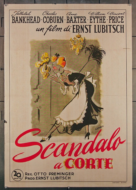 ROYAL SCANDAL, A (1945) 26976 20th Century Fox Original Italian 27x39 one-foglio poster (27x39)  Folded  Very Good Plus Condition