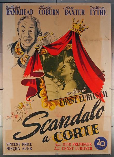ROYAL SCANDAL, A (1945) 26972 20th Century Fox Original Italian Two-Foglio Poster (39x55)  Folded  Very Good Plus Condition