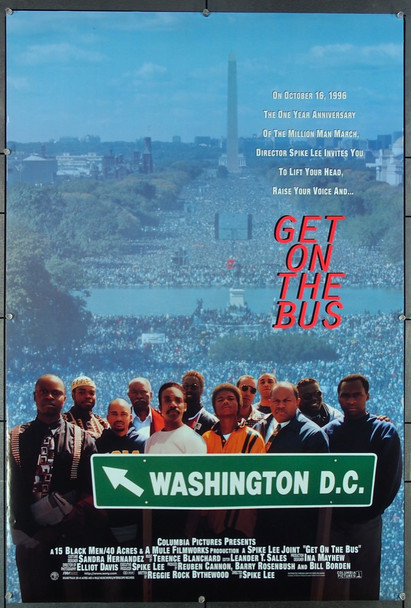 GET ON THE BUS (1996) 27006 Columbia Pictures Original One-Sheet Poster (27x41)  Rolled Double Sided  Very Fine