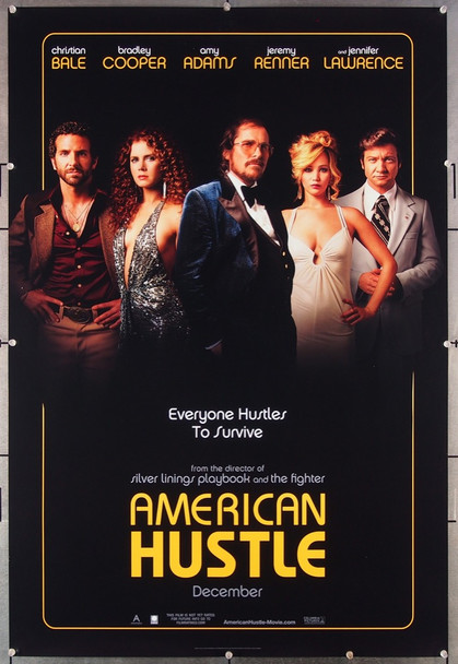AMERICAN HUSTLE (2013) 27000 Columbia Pictures Original One-Sheet Poster (27x41) Advance One-Sheet  Rolled  Very Fine Condition