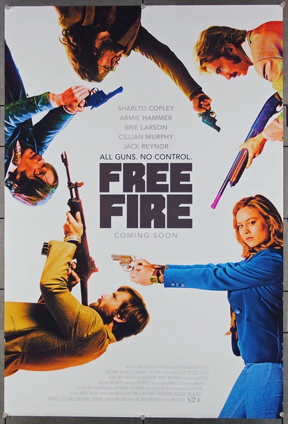FREE FIRE (2016) 26843 Protagonist Pictures Original One-Sheet Poster (27x40)  Rolled  Very Fine