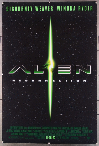 ALIEN: RESURRECTION (1997) 26508 20th Century Fox Original One-Sheet Poster  (27x41)  Rolled  Very Fine Condition