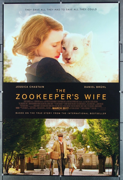 ZOOKEEPER'S WIFE, THE (2017) 26857 Focus Features Original One-Sheet Poster (27x40)  Rolled  Very Fine Condition