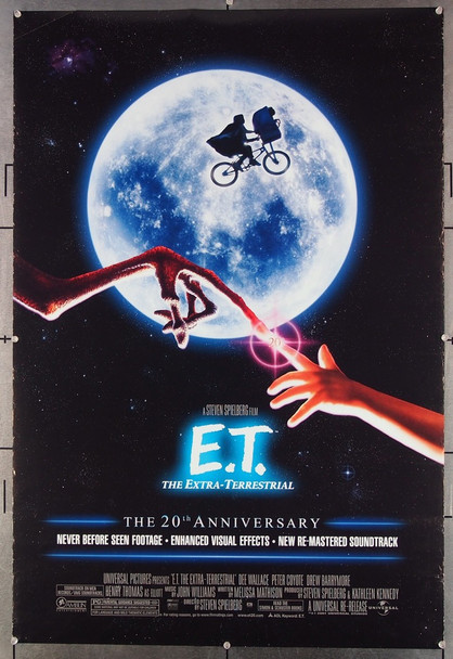 E.T. THE EXTRATERRESTRIAL (1982) 26514 Universal Pictures Original One-Sheet Poster (27x41) Re-release of 2002.  Rolled  Very Fine Condition