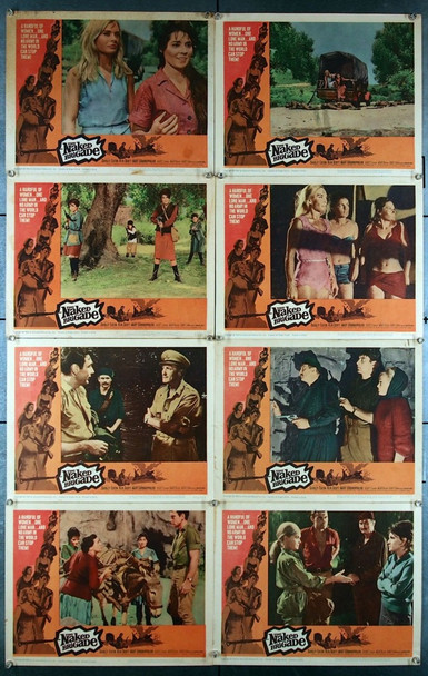 NAKED BRIGADE, THE (1965) 27017 Universal PIctures Original Lobby Card Set (11x14)  Eight Cards  Good Condition  Theater-Used