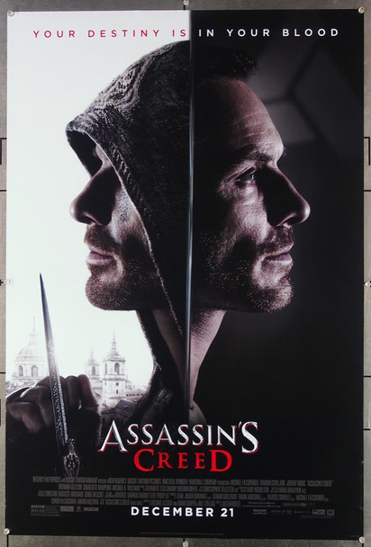 ASSASSINS CREED (2016) 26728 20th Century Fox Original One Sheet Poster (27x40).  Rolled.  Very Fine Condition.
