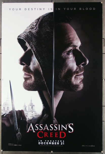 ASSASSINS CREED (2016) 26727 20th Century Fox Original Teaser One Sheet Poster (27x40) Rolled  Very Fine Condition