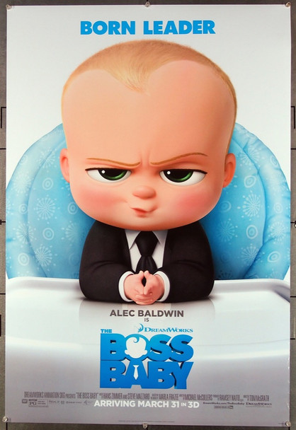 BOSS BABY, THE (2017) 26732 20th Century Fox Original Teaser One-Sheet Poster (27x40)  Rolled Double-Sided  Very Fine Condition
