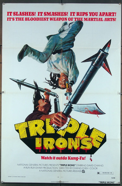 TRIPLE IRONS (1971) 26886 National General Pictures Original One-Sheet Poster (27x41) Folded  Fine Plus Condition
