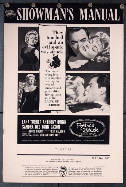 PORTRAIT IN BLACK (1960) 27044 Universal Pictures Original Pressbook (12x18) 26 pages No Cuts