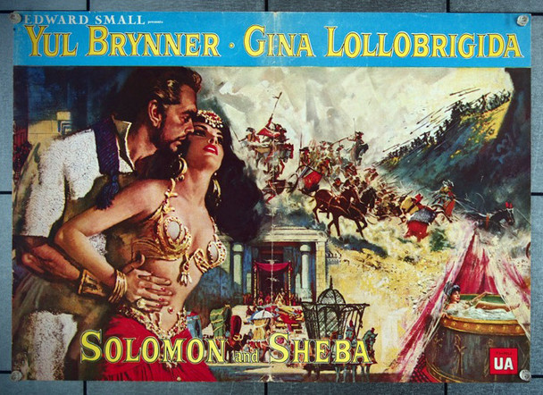 SOLOMON AND SHEBA (1959) 27045 United Artists Original Pressbook (10x15) Horizontal DeLuxe Format  Folded  14 Giant Pages!