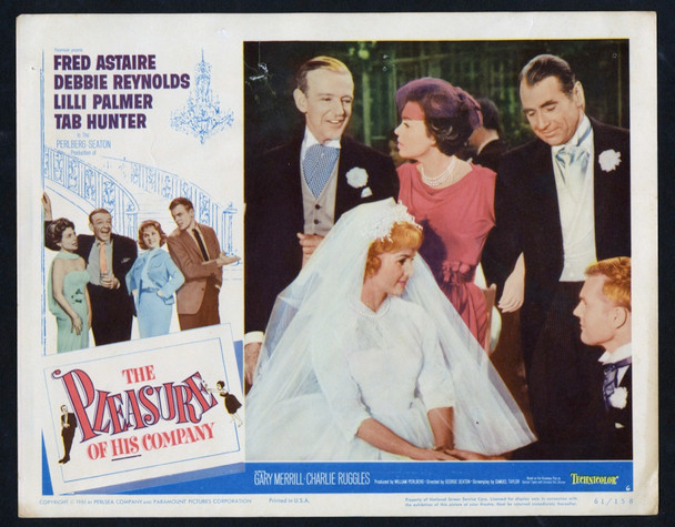 PLEASURE OF HIS COMPANY, THE (1961) 27028 Paramount Pictures Original Lobby Card (11x14)  Very Good Condition  TAB HUNTER  FRED ASTAIRE  DEBBIE REYNOLDS