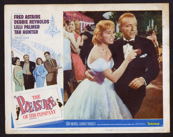 PLEASURE OF HIS COMPANY, THE (1961) 27029 Paramount Pictures Original Scene Lobby Card (11x14)  Very Good Condition  DEBBIE REYNOLDS  FRED ASTAIRE