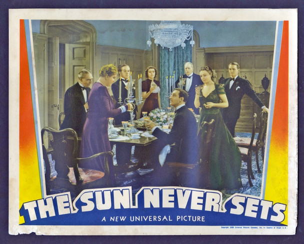 SUN NEVER SETS, THE (1939) 15321 Universal Pictures Original Scene Lobby Card (11x14) Very Good Condition