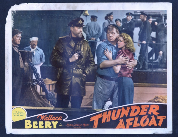 THUNDER AFLOAT (1939) 15326 MGM Original Scene Lobby Card (11x14) Good Condition Only  Theater Used  Slight Damage