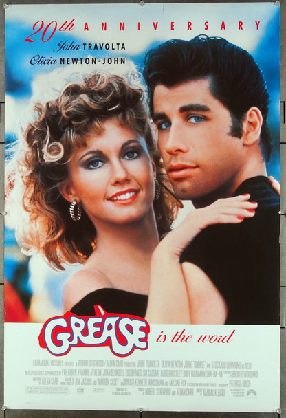 GREASE (1978) 26516 Paramount Pictures 20th Anniversary One-Sheet Poster Dates from 1998  Very Fine Condition