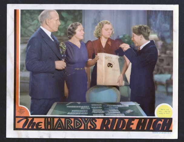 HARDYS RIDE HIGH, THE (1939) 15316 MGM Original Scene Lobby Card (11x14)  Fine Plus Condition