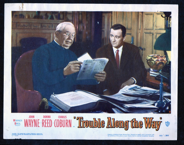 TROUBLE ALONG THE WAY (1953) 26878 Warner Brothers Original Scene Lobby Card (11x14) Fine Condition