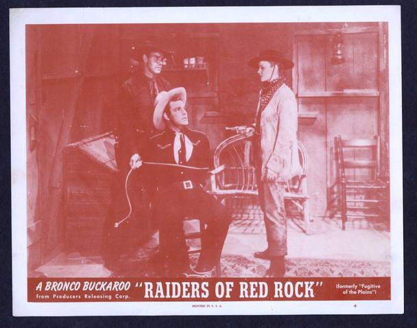 FUGITIVE OF THE PLAINS (1943) 26872 PRC Original Scene Lobby Card (11x14) Fine Plus Condition