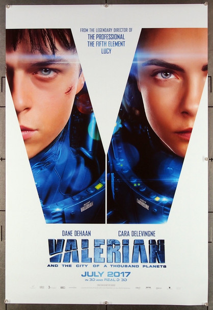 VALERIAN AND THE CITY OF A THOUSAND PLANETS (2017) 26959 STX Entertainment Original One-Sheet Poster (27x40) Rolled  Very Fine Condition