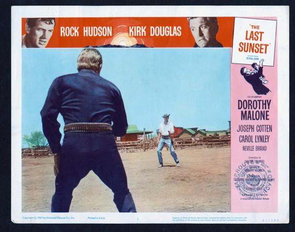 LAST SUNSET, THE (1961) 26874 Universal Pictures Original Scene Lobby Card (11x14) Fine Plus Condition