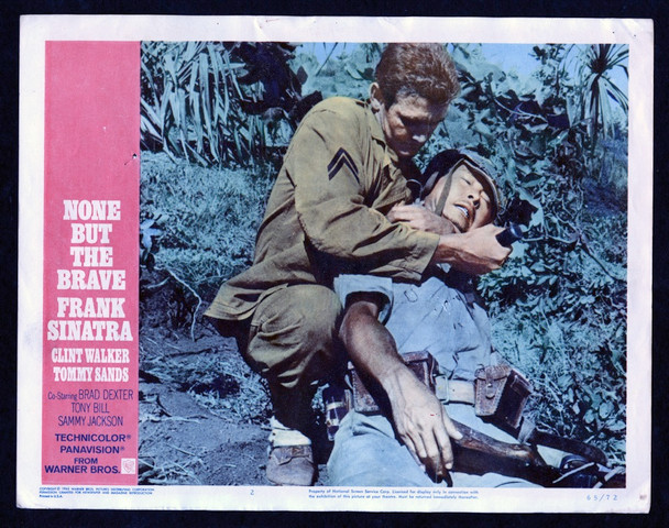 NONE BUT THE BRAVE (1965) 26875 Warner Brothers Original Scene Lobby Card  (11x14)  Fine Plus Condition  TOMMY SANDS