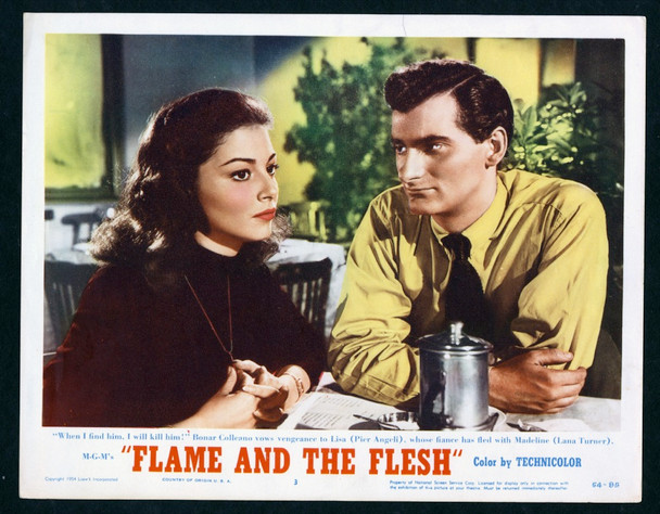 FLAME AND THE FLESH (1954) 26869   PIER ANGELI   BONAR COLLEANO MGM Original Scene Lobby Card (11x14)  Very Fine Condition