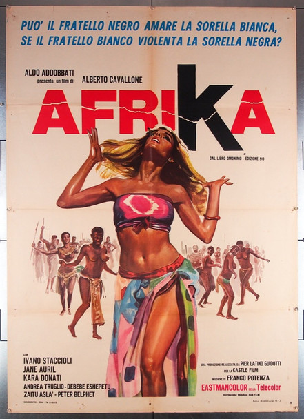 AFRIKA (1973) 26966 Cinefear Original Italian 39x55 Poster  Folded  Fine Plus Condition