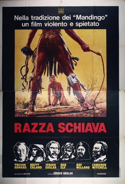 SLAVERS (1978) 26803 Original Italian Four-Foglio Poster  79x55  Folded  Very Fine Condition
