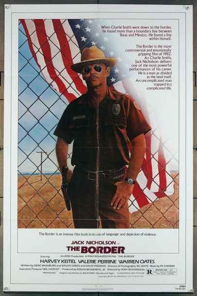 BORDER, THE (1982) 12147 Universal Pictures Original One-Sheet Poster (27x41)  Folded  Fine Plus Condition