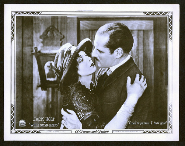 WHILE SATAN SLEEPS (1922) 2597 Paramount Pictures Original Scene Lobby Card (11x14) Very Fine Condition  Jack Holt  Mabel Van Buren