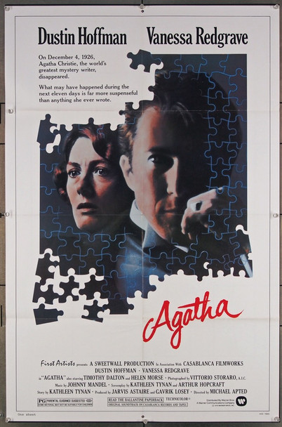 AGATHA (1979) 27103 Original Warner Brothers One Sheet Poster (27x41).  Folded.  Very Fine.