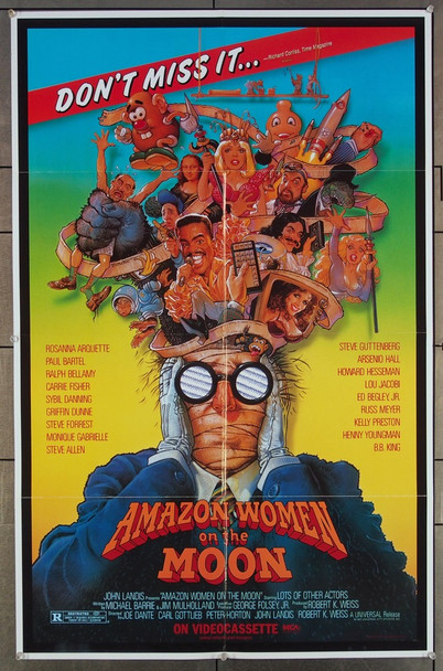AMAZON WOMEN ON THE MOON (1987) 27109 Original Universal Pictures One Sheet Poster (27x41).  Folded.  Very Fine.