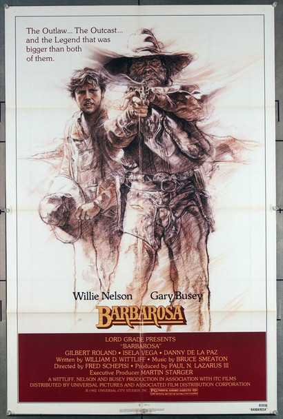 BARBAROSA (1982) 27117 Original Universal Pictures One Sheet Poster (27x41).  Folded.  Very Fine.