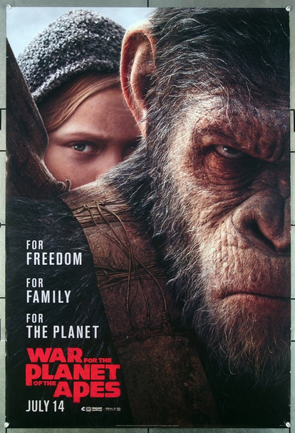 WAR FOR THE PLANET OF THE APES (2017) 26960 20th Century Fox Original Advance Style B One-Sheet Poster  (27x40)  Rolled  Very Fine
