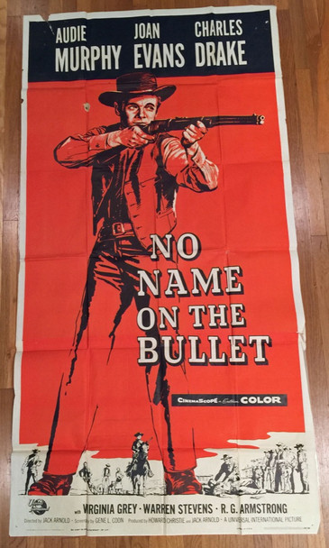 NO NAME ON THE BULLET (1959) 12874 Universal Pictures Original Three Sheet Poster (41x81) Theater-Used Average Used Condition  Folded