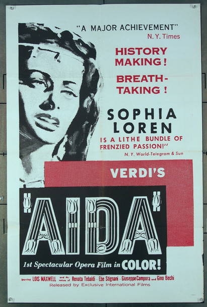 AIDA (1954) 2413 Exclusive Pictures One-Sheet Poster (27x41) Folded  Fine Plus Condition