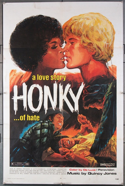 HONKY (1971) 27320 Jack D. Harris Enterprises Original One-Sheet Poster (27x41) Folded  Very Fine Condition