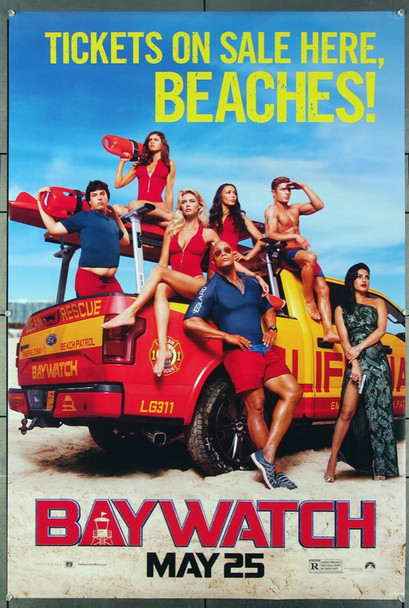 BAYWATCH (2017) 26933 Original Paramount Pictures 2017 Release One Sheet Poster (27x40). Very Fine