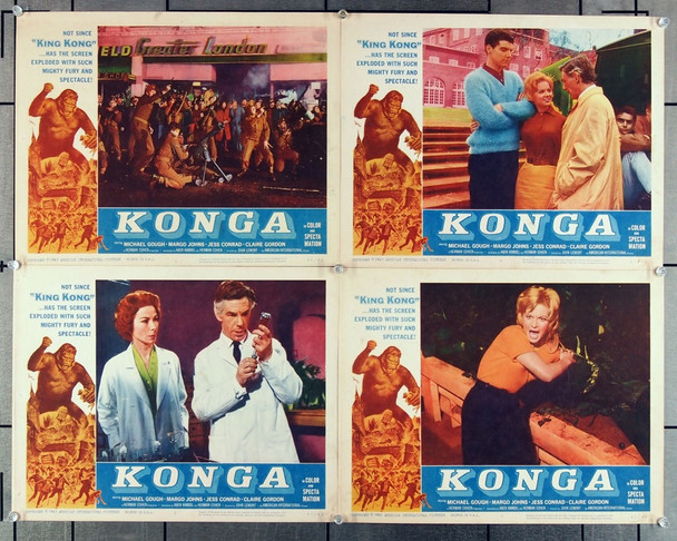 KONGA (1961) 2613 American-International Group of Four Scene Lobby Cards  (11x14) Fine to Fine Plus Condition