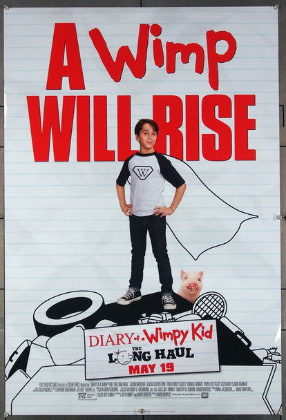 DIARY OF A WIMPY KID: THE LONG HAUL (2017) 26938 One Sheet Poster (27x40) Directed by David Bowers and featuring Jason Drucker, Alicia Silverstone and Tom Everett Scott Original Fox 2000 Pictures 2017 One Sheet Poster (27x40) Directed by David Bowers and featuring Jason Drucker, Alicia Silverstone and Tom Everett Scott