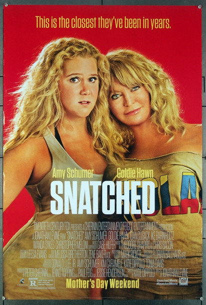 SNATCHED (2017) 26955 Original Fox 2017 Release One Sheet Poster (27x40) Directed by Jonathan Levine and starring Amy Schumer, Goldie Hawn and Wanda Sykes.