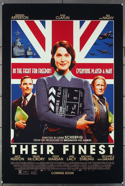 THEIR FINEST (2016) 26958 A Lionsgate 2016 Release One Sheet Poster (27x40) Directed by Lone Scherfig and starring Gemma Arterton, Bill Nighy and Jeremy Irons.