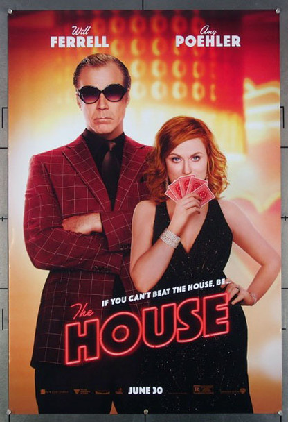 HOUSE, THE (2017) 26941 An original Warner Brothers Release One Sheet Poster (27x40) and Directed by Andrew Jay Cohen and starring Will Ferrell and Amy Poehler