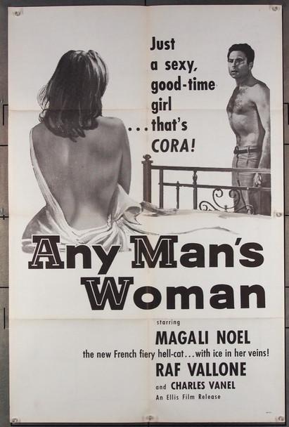 PIEGE, LE (1958) 4088 Ellis Film One-Sheet Poster (27x41) Folded  U.S. Re-release of 1958.