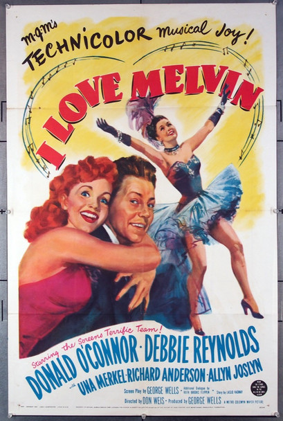 I LOVE MELVIN (1953) 27321 MGM Original One-Sheet Poster (27x41) Folded  Very Fine Condition
