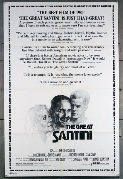 GREAT SANTINI, THE (1979) 27194 This original ORION 1979 Release One Sheet Poster (27x41) Directed by Lewis John Carlino
