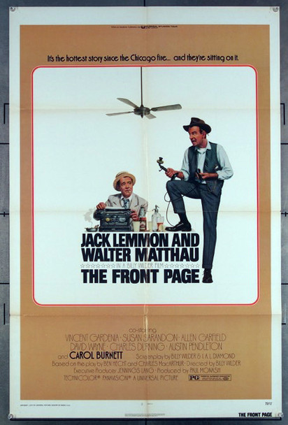 FRONT PAGE, THE (1974) 27177 Original Universal 1974 Release One Sheet Poster (27x41)